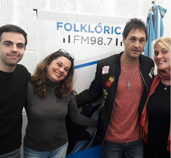 Fabricio pasó por Radio Folklórica Nacional FM 98.7 con Luis Digiano