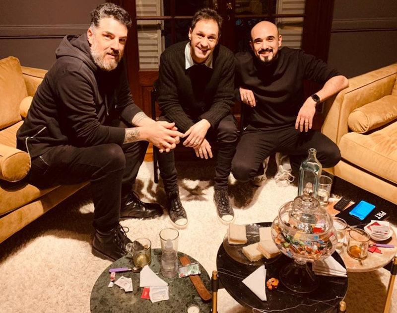 Fabricio Rodriguez junto a Abel Pintos cerrando detalles del próximo disco.